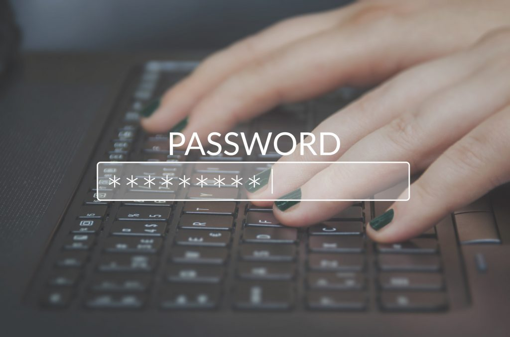 Password on a screen